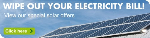 Special deals and discounts on solar power