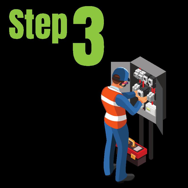 Step 3 - solar installation