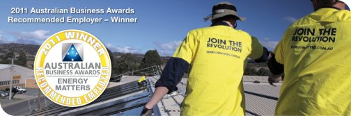 2011 Winner Australian Business Awards Recommended Employer