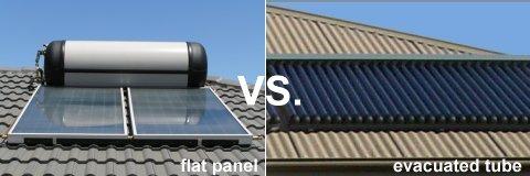 flat panel vs. evacuated tube collectors