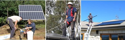 Off grid solar installation network