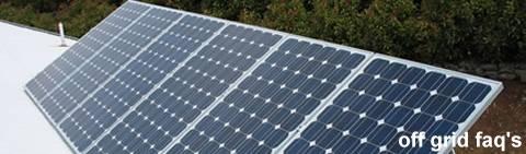 Off grid FAQs: off-grid questions