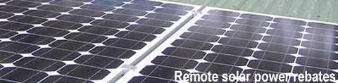 off grid solar power rebates (remote solar rebates)
