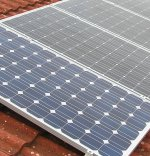 Off grid solar power components such as solar panels