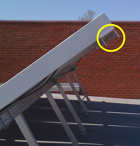 Solar panel security rail lock system