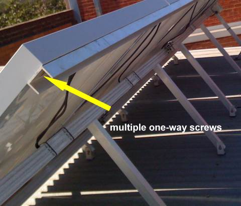 Solar array anti-theft locking device