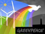 Greenpeace calls for climate change action.