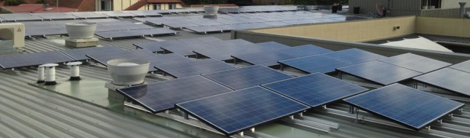 Solar panel array - Bupa Aged Care