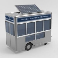 Solar assisted food cart
