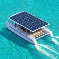 Solar Catamaran Soelcat Boat For Eco Tourism Is Powered