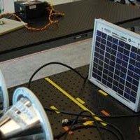 Broadband Internet access from solar panels
