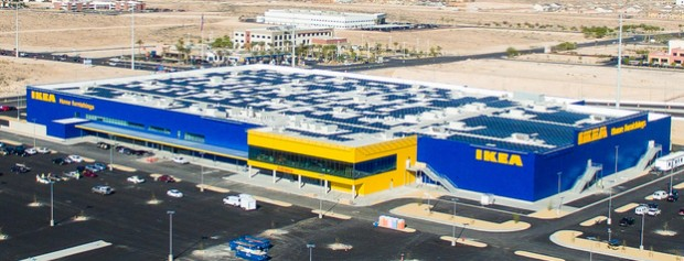 1mw solar panel installation for ikea for Ikea seattle ameublement renton wa