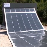 Roll-up solar panels