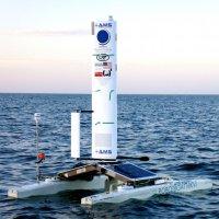 Wind and solar powered Datamaran