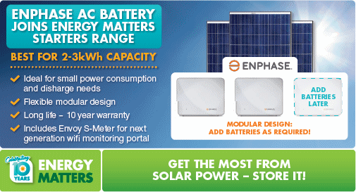 Enphase energy storage information