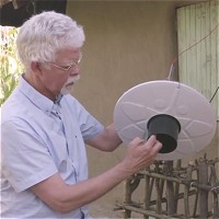 Solar powered mosquito trap