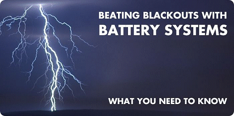 home battery systems and blackouts showing lightning: What you need to know