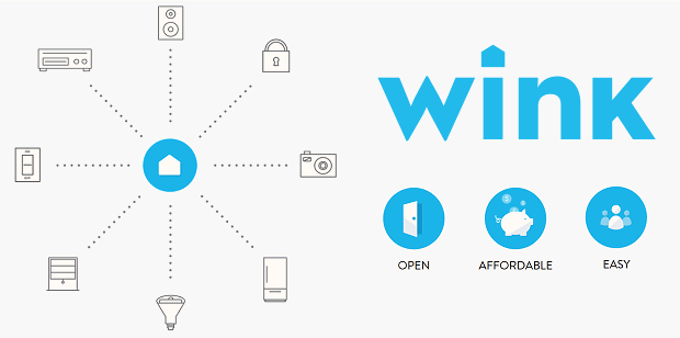 Smart home automation with Wink