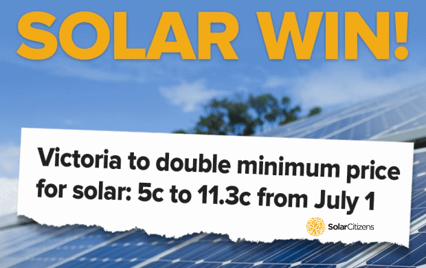Solar feed in tariffs - Victoria