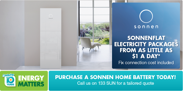sonnenFlat flat price electricity with a sonnenBatterie