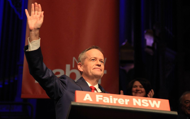 Federal Labor Leader Bill Shorten at the NSW state conference where renewable energy targets were outlined.