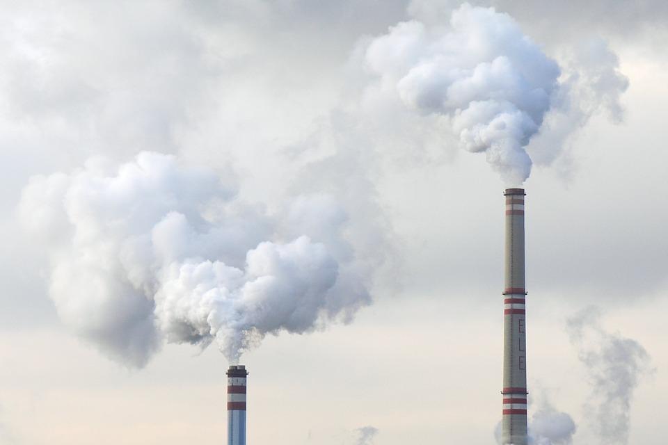 High emission burning coal