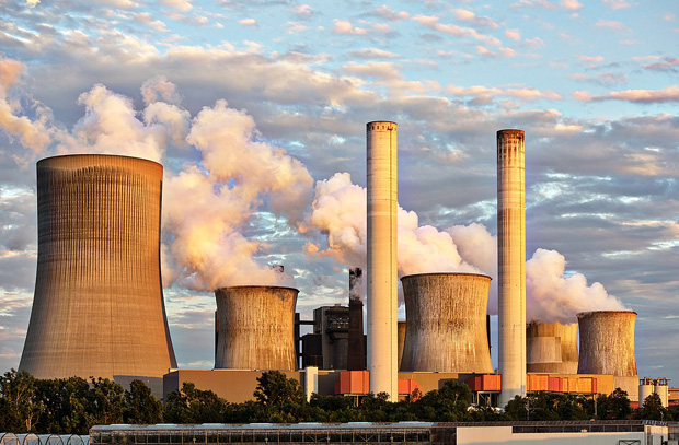 Coal-fired power plants, such as Liddell power station, cause pollution.
