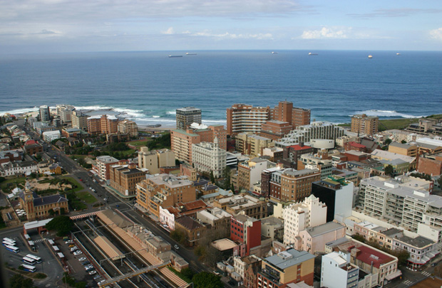 Newcastle City CBD and beach