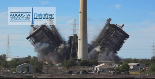 Coal-fired power station: The Northern Power Station demolished at Port Augusta.
