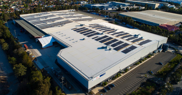 Solar panel system at Sydney's Chullora Australia Post sorting centre breaks national records.