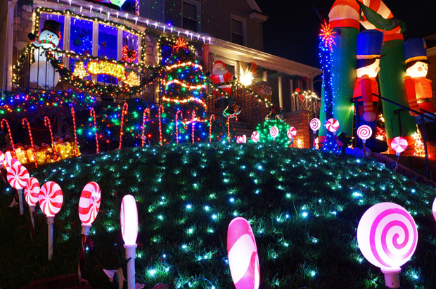 Christmas lights drive up energy bills in December.