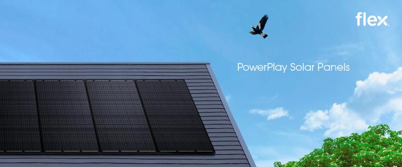Flex Powerplay solar panels on roof