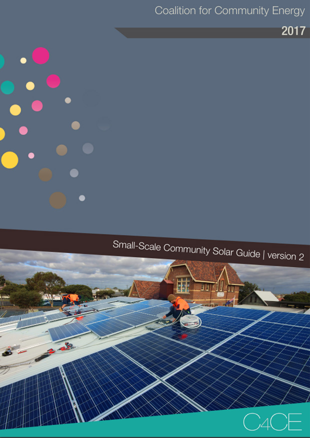 Small-Scale Community Solar Guide from Coalition for Community Energy.