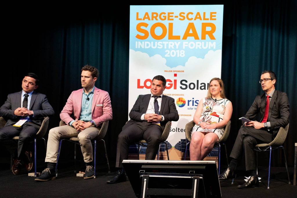 Large scale solar forum participants