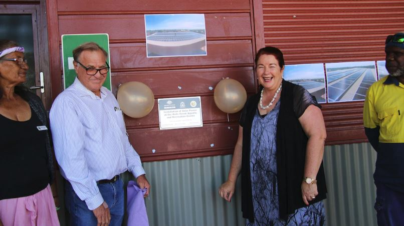 Smart solar installation celebrated by local politiicians