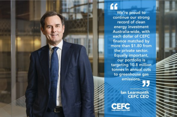 The CEFC's Ian Learmonth says supporting energy storage batteries is a vital part of Australia's future energy mix. Image: CEFC