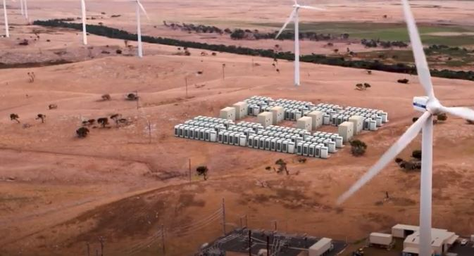 Tesla Powerpack battery energy storage system planned for Infigen wind farm.