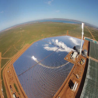 Largest solar project under way in south australia.