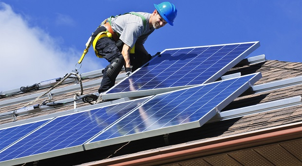 Rooftop solar PV such as this contributes to the impact of Distributed energy.