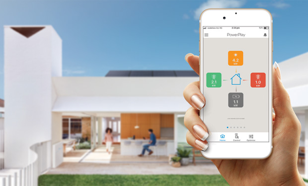 PowerPlay monitors all your energy resources, from your solar panels to your battery, on your mobile.