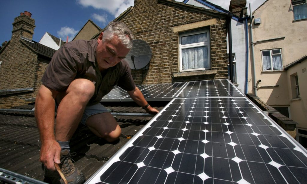 surplus solar power from panels like these may be given away