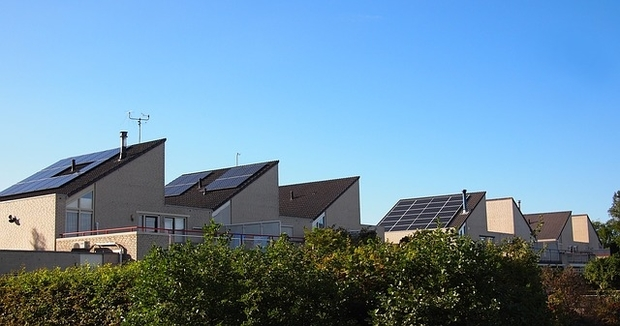VPP can be made up of residential solar panels like these
