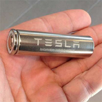 A Tesla rechargeable battery.