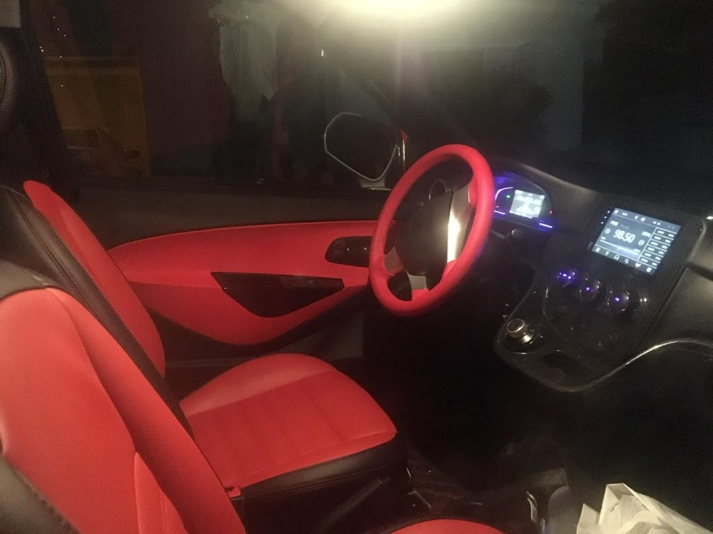 Interior of ACE Australian Electric Vehicle at SEC 2019
