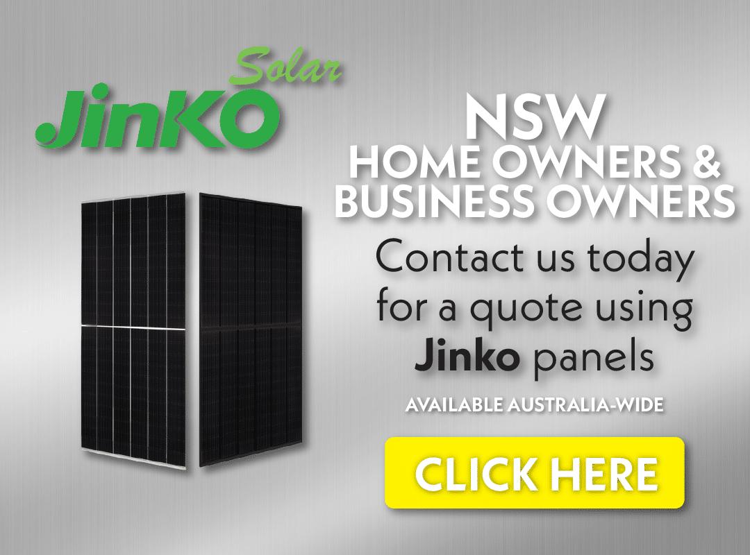 Jinko solar panels NSW