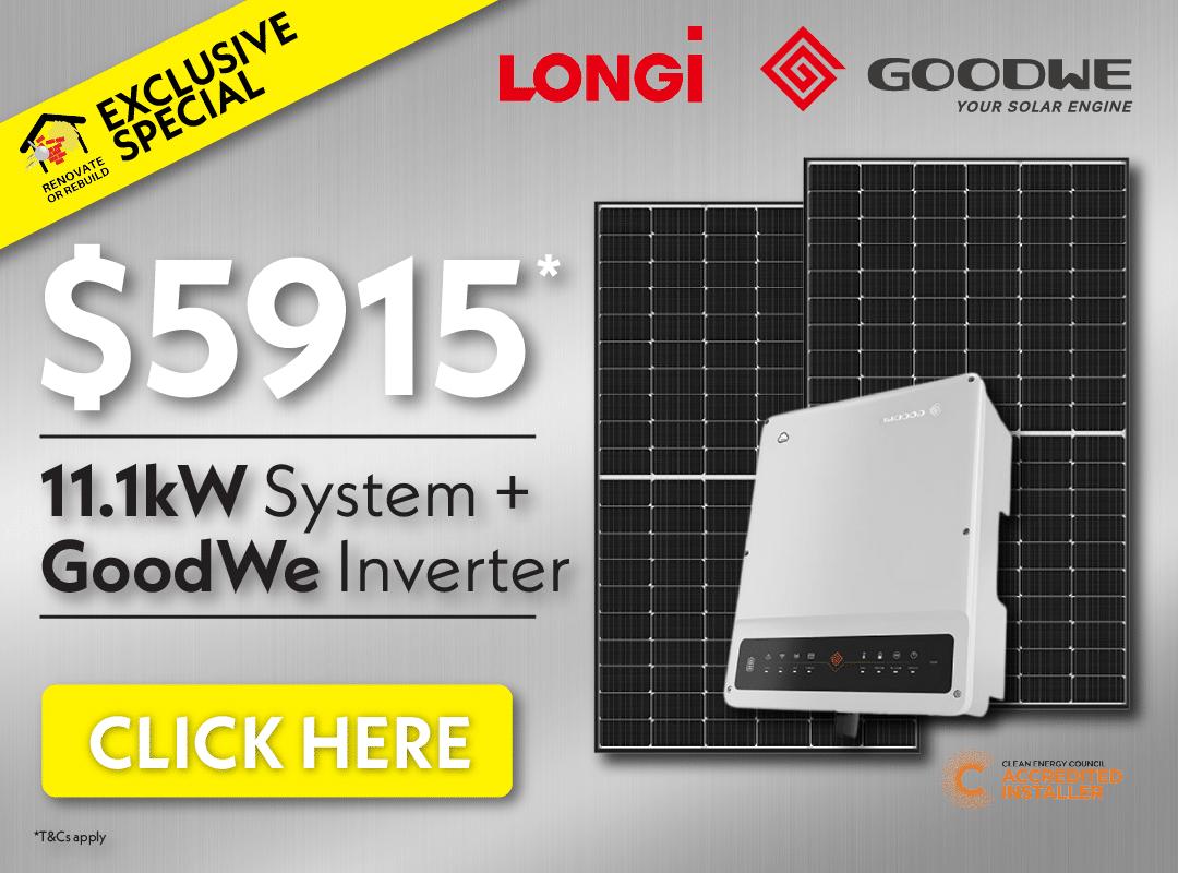 LONGi solar system and inverter - $5915