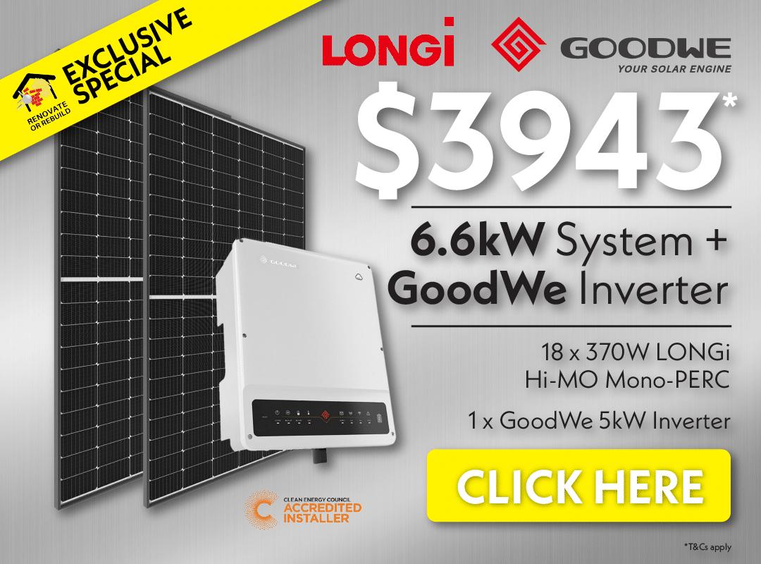 LONGi solar panels and inverter - $3943