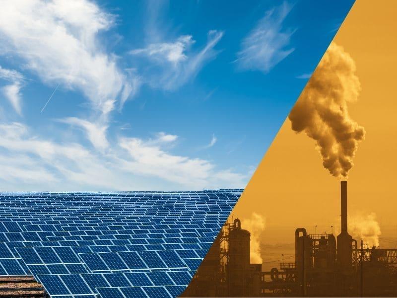 solar energy vs coal