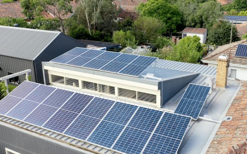Tilt up concrete solar panels