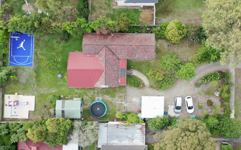 the property in a suburb of Melbourne